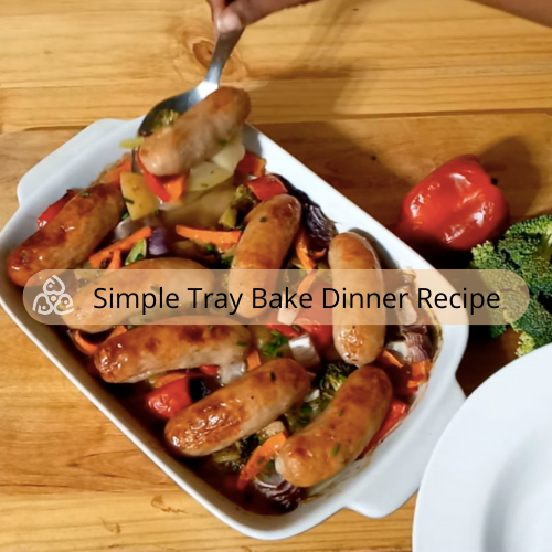 Easy to make saucy tray bake dinner